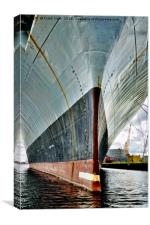 RFA Fort Austin's bow, Canvas Print