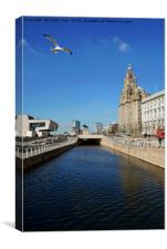 Liverpool's iconic Waterfront, Canvas Print