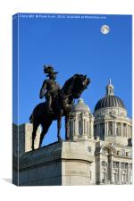 Liverpool, Statue of Edward VIII, Cunard Building , Canvas Print
