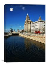 Liverpool's Liver & Mersey Ports Buildings, Canvas Print