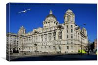 Liverpool's iconic Cunard Building, Canvas Print