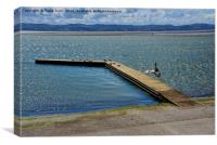 West Kirby Marine Lake on a windy day, Canvas Print
