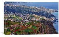 Madiera- from high up, Canvas Print