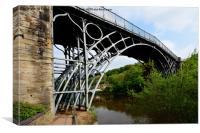 Abraham Darby's Iron bridge, Canvas Print