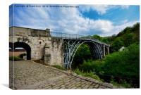 """The iconic """"Iron Bridge"""", Canvas Print"""