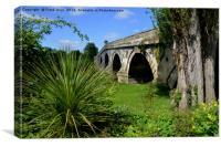 The now disused Atcham Bridge, Canvas Print
