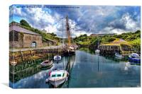 Amlwych Harbour, Anglesey, North Wales, UK, Canvas Print