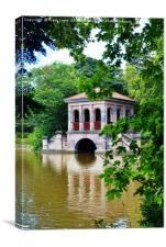 Birkenhead Park's Iconic Boathouse, Canvas Print