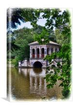 Artistic view of Birkenhead park's Boathouse, Canvas Print