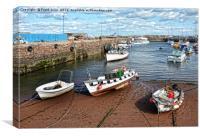 Serene, sunny Paignton harbour, Canvas Print