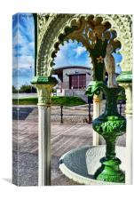Hoylake's Victorian drinking fountain., Canvas Print