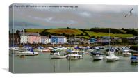 Aberaeron Harbour (Marina section), Canvas Print