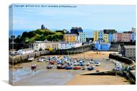 A view of the magnificent Tenby Harbour, Canvas Print