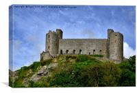 Harlech castle from street level, Canvas Print