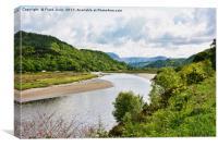 The Dwyryd Valley near Maentwrog, Wales, Canvas Print