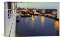 Southampton docks by night, Canvas Print