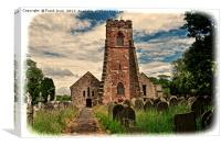 Holy Cross Church (Grunged) Woodchurch, Canvas Print