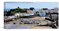 Tenby Harbour, Tenby, Wales, UK, Canvas Print