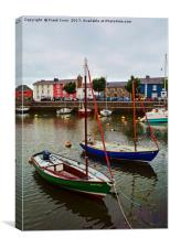 Aberaeron Harbour, Canvas Print
