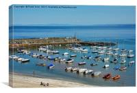 New Quay harbour in West Wales., Canvas Print
