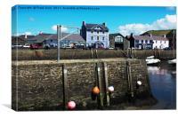 Aberaeron Harbour, Tide out!, Canvas Print