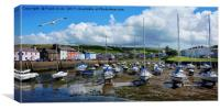 Aberaeron Harbour, Tide out!, Canvas Print