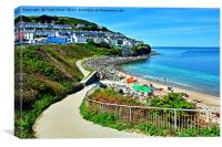 New Quay - West Wales, Canvas Print