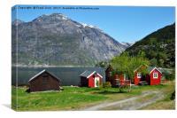 Norwegian Fjord landscape, Canvas Print