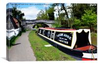 Canal boat at Christleton, Canvas Print