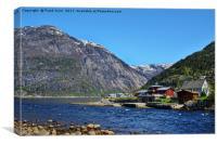 Eidfjord / Hardangerfjorden, Norway, Canvas Print