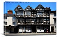 The Feathers, Ludlow, South Shropshire, Canvas Print