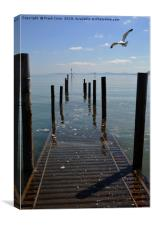 The jetty at Rhos-on-Sea. North Wales, Canvas Print