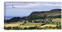 Typical North Wales countryside, Canvas Print