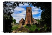 Holy Cross Church, Woodchurch, Wirral, UK, Canvas Print