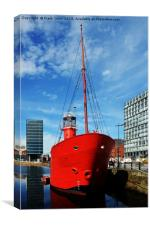 Mersey Bar lightship, Planet, Canvas Print