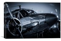 Chrome twin-engined beauty, Canvas Print