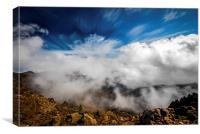 Clouds in Haleakala, Canvas Print