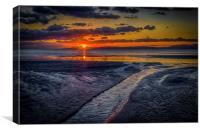 Sundown on Prestwick Beach, Canvas Print