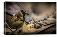 "Catalina PBY-5A ""Miss Pick Up"" Low Angle, Canvas Print"