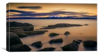After The Sun, Portencross, Canvas Print