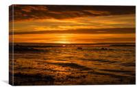 Orange Surf, Canvas Print
