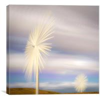Electric Flowers, Canvas Print