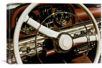 Classic Car Steering Wheel, Canvas Print
