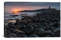 Dunstanburgh Castle at Sunrise, Canvas Print