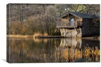Ullswater Boathouse, Lake District, Cumbria, Canvas Print