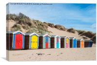 Saunton Sands Beach Huts, Canvas Print