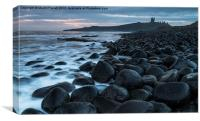 Dunstanburgh Castle from Embleton Beach at Sunrise, Canvas Print