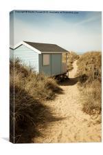 Hunstanton Beach Hut, Canvas Print