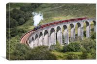 Jacobite Steam Train, Glenfinnan, Canvas Print