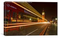 Westminster bridge bus, Canvas Print